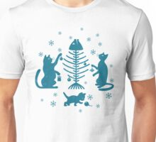 Cats at Christmas Unisex T-Shirt
