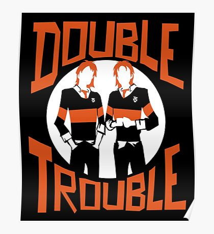 Official Phelps Twins - Double Trouble Tee Poster