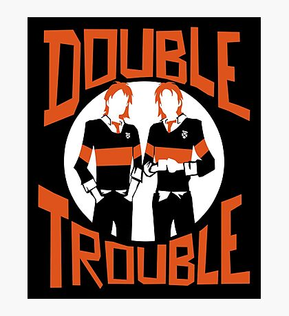 Official Phelps Twins - Double Trouble Tee Photographic Print
