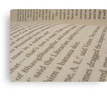 Text Canvas Print