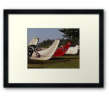 The Many Canoes of the Bands of the Coast Salish People at Kwékwenis Framed Print