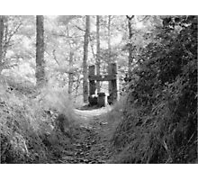 Stile at the top of the hill Photographic Print