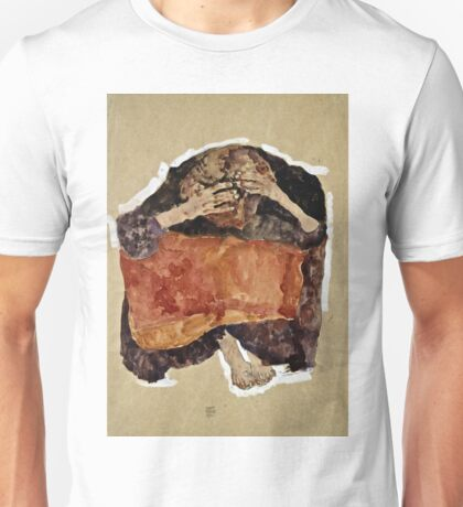 Egon Schiele -Troubled Woman Unisex T-Shirt