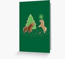 Gingerbread Unicorn Greeting Card