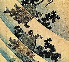 'Turtles' by Katsushika Hokusai (Reproduction). by Roz Abellera Art Gallery