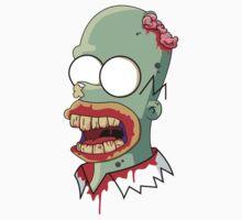 Zombie Homer Simpon by HectorGonzalez