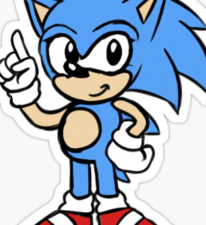 Sonic's the Name, Speed's My Game! Sticker