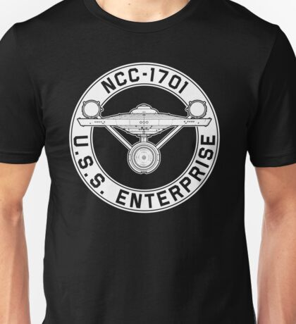 USS Enterprise Logo - Star Trek - NCC-1701 (TOS) Unisex T-Shirt
