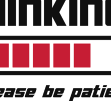 Thinking Loading Bar Please Be Patient Sticker