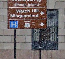 Welcome to Westerly, Watch Hill, Misquamicut, Rhode Island by Maureen Zaharie