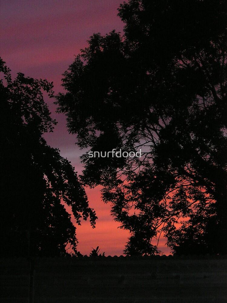 Autumn Sunset 2 by snurfdood