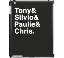 Tony & Silvio & Paulie & Chris. iPad Case/Skin