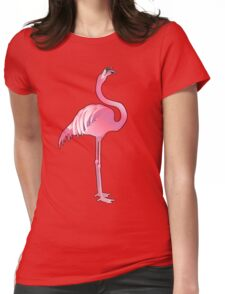 Cute graphic flamingo Womens Fitted T-Shirt