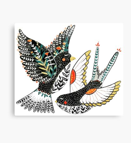 Sparrow & Swallow Canvas Print