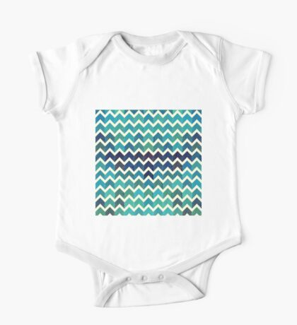 Watercolor Chevron Pattern II One Piece - Short Sleeve