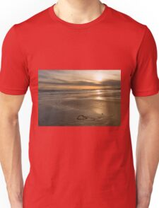 Pebble Beach Sunset Hearts Unisex T-Shirt