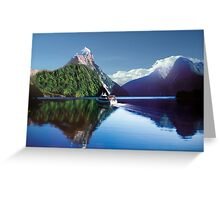 Mirror Of Milford Sound Greeting Card