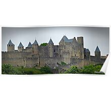 """ The Eastern wall of  Carcassonne castle"" Poster"