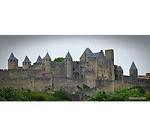 """ The Eastern wall of  Carcassonne castle"" Photographic Print"