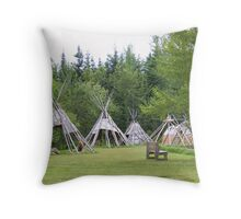 Camp At Grand Portage Throw Pillow