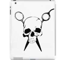 Skull and Shears Hair Stylist Art iPad Case/Skin