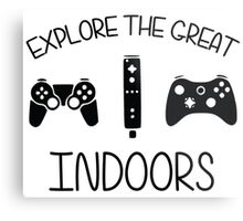 Explore The Great Indoors Video Games Metal Print
