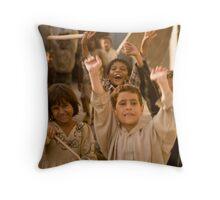 Poverty and Joy Throw Pillow