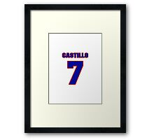 National baseball player Alberto Castillo jersey 7 Framed Print