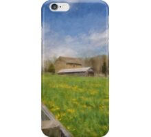 Stone Barn On A Spring Morning iPhone Case/Skin