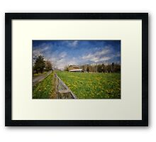 Stone Barn On A Spring Morning Framed Print