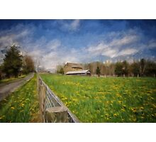 Stone Barn On A Spring Morning Photographic Print