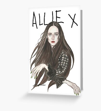 TOTAL FXCKING DARKNESS - Allie X Greeting Card