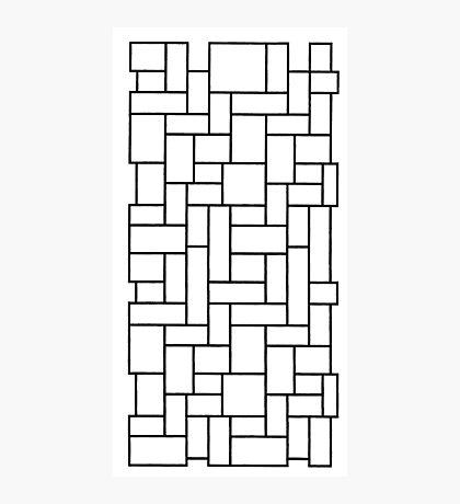 Black outline of mosaic edit Photographic Print