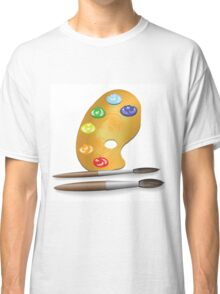 two brushes and paint Classic T-Shirt