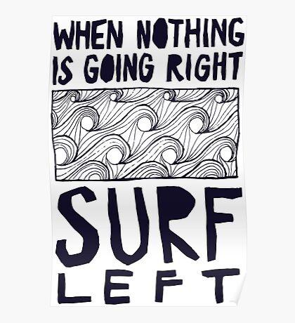 Cool Surf Surfer Typography design Poster