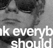 "Andy Warhol ""I think everybody should like everybody"" Sticker"