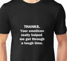 Thanks for the Emoticon Unisex T-Shirt