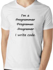 I'm a Programmer I Write Code Bad Speller Mens V-Neck T-Shirt