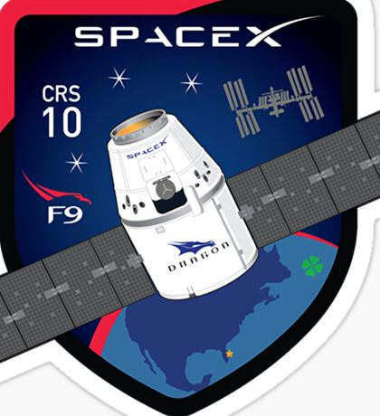 CRS-10 Mission Logo Sticker