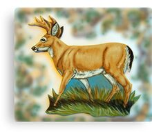 Craft Foam Deer Canvas Print