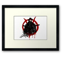V for Vendetta - V made of V Framed Print