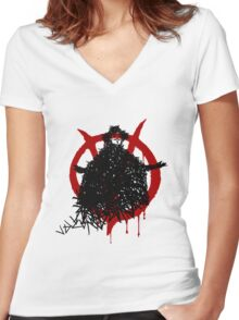V for Vendetta - V made of V Women's Fitted V-Neck T-Shirt