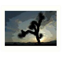 Posterized Sunset Art Print