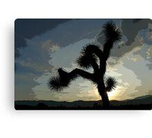 Posterized Sunset Canvas Print