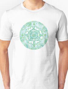 Paisley Mandala - Blue & Green Unisex T-Shirt