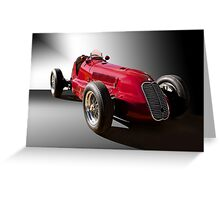 1939 Maserati 8CTF Race Car III Greeting Card