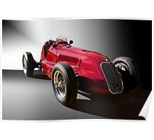 1939 Maserati 8CTF Race Car III Poster