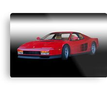 1987 Ferrari Testarossa 'Studio' I Metal Print