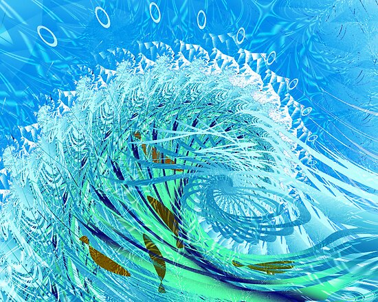"Fractal: ""Playing in the surf"" by Freda Surgenor"