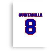 National baseball player Omar Quintanilla jersey 8 Canvas Print